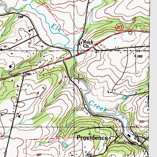Topographic Map of The Rock (historical), MD