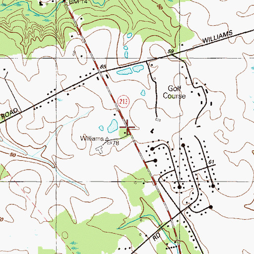 Topographic Map of Universalist Church (historical), MD