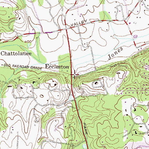 Topographic Map of Eccleston, MD