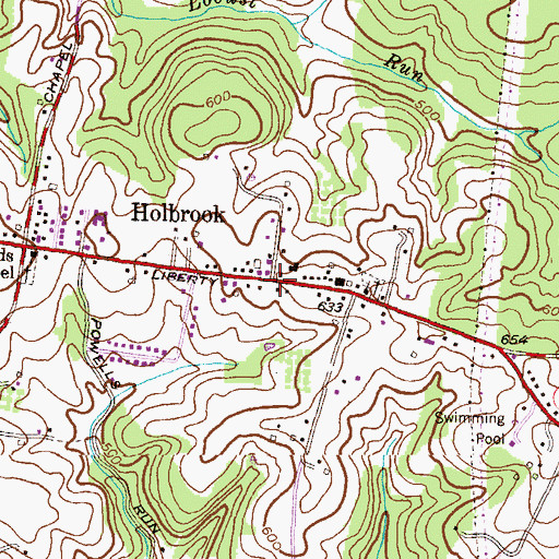 Topographic Map of Holbrook, MD