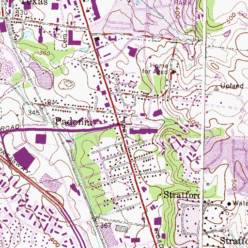 Topographic Map of Padonia, MD