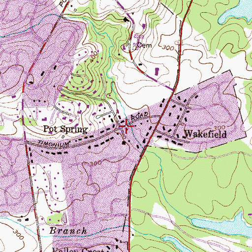 Topographic Map of Pot Spring, MD