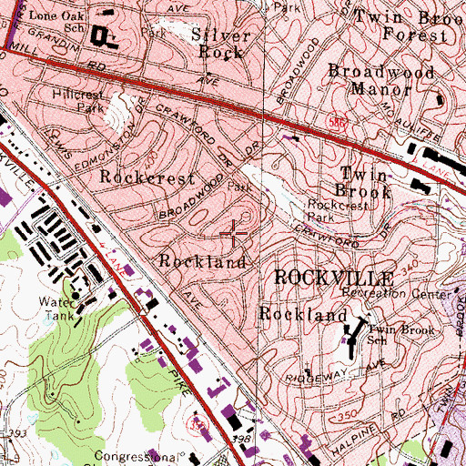 Topographic Map of Rockland, MD