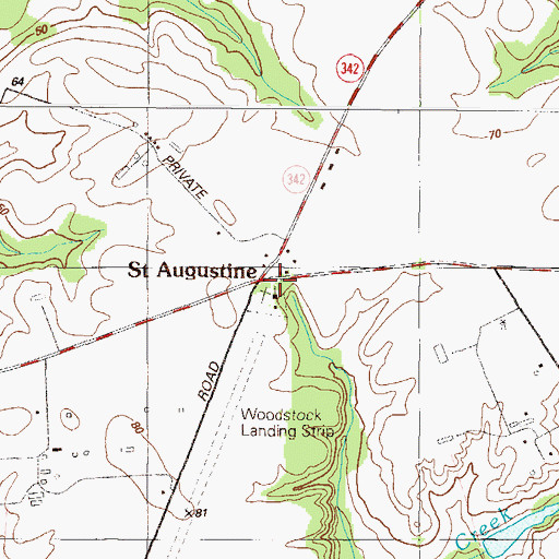 Topographic Map of Saint Augustine, MD