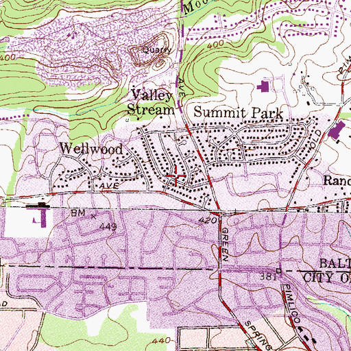 Topographic Map of Valley Stream, MD