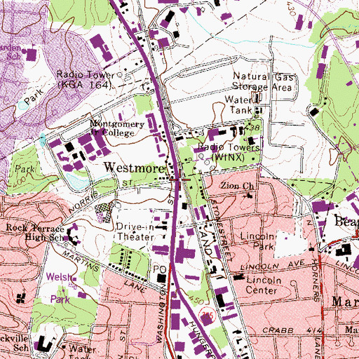 Topographic Map of Westmore, MD