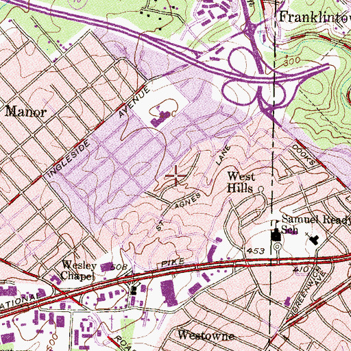 Topographic Map of Edmondson Heights Park, MD