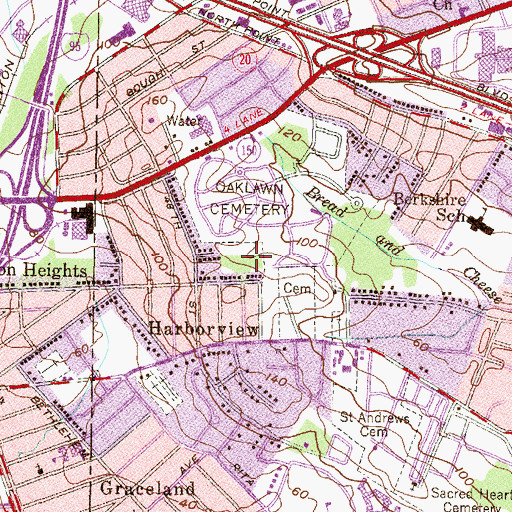 Topographic Map of Harbor View Park, MD