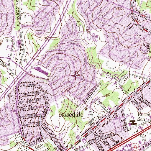 Topographic Map of Hillbrook, MD