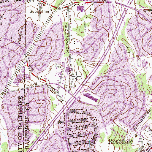 Topographic Map of Lutz Hill, MD