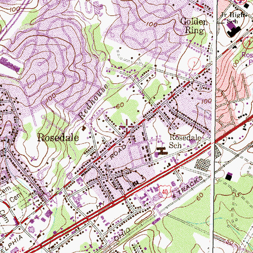 Topographic Map of Prince of Peace Lutheran Church, MD