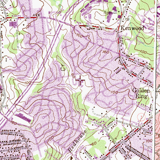 Topographic Map of Red House Run Elementary School, MD