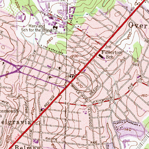 Topographic Map of Saint James Evangelical Lutheran Church, MD