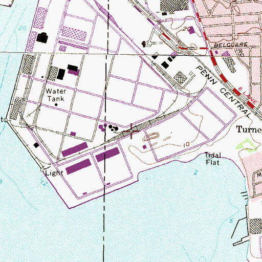 Topographic Map of Turner School (historical), MD