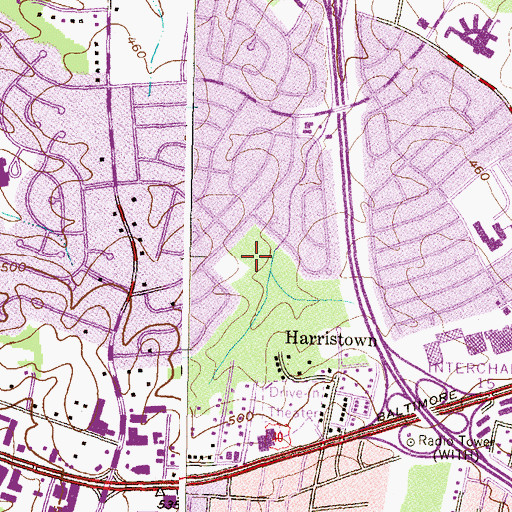Topographic Map of Westview Recreation Area, MD