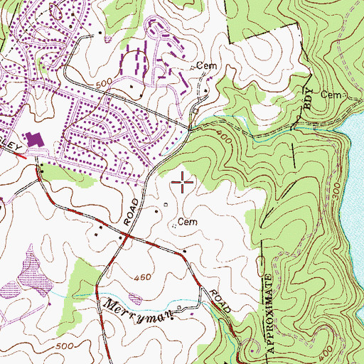 Topographic Map of Dulaney Gate, MD