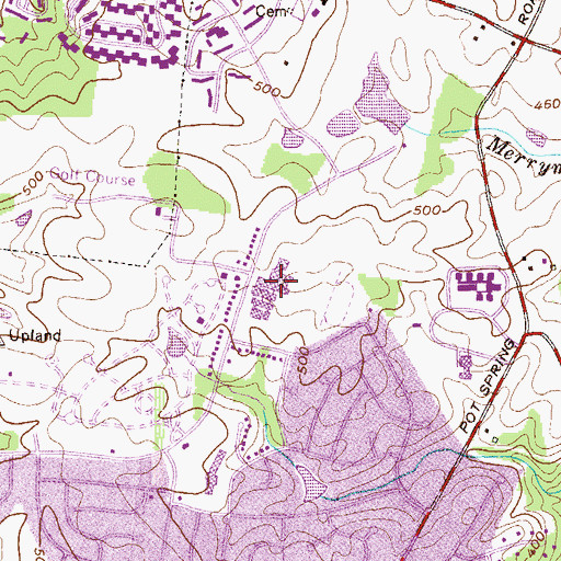 Topographic Map of Dulaney High School, MD