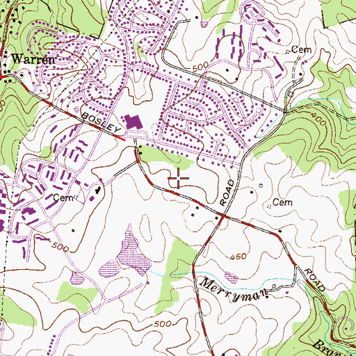 Topographic Map of Dulaney Spring Elementary School, MD