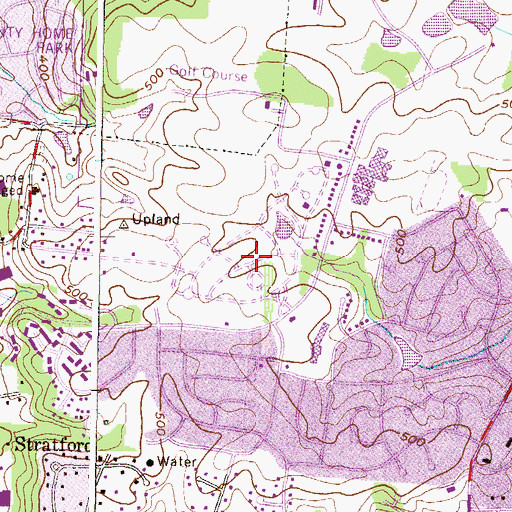 Topographic Map of Dulaney Valley Memorial Gardens, MD