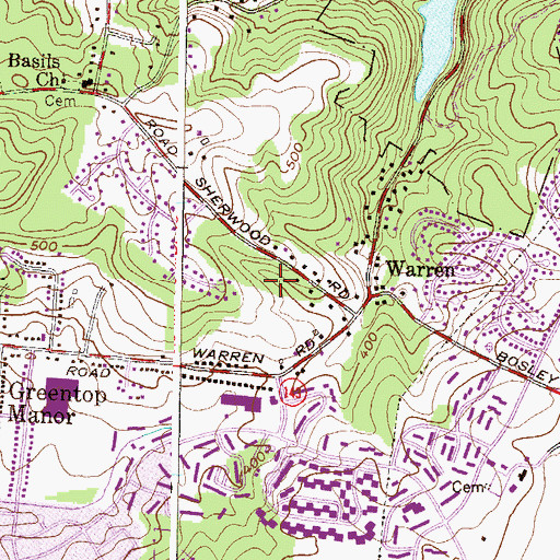 Topographic Map of Epworth United Methodist Church, MD