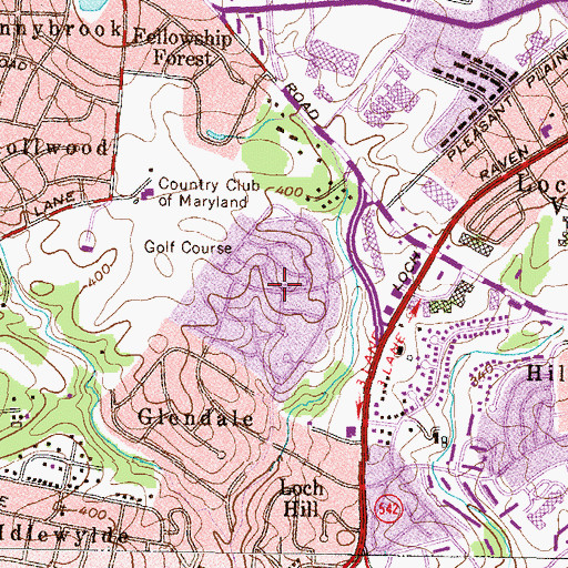 Topographic Map of Glenmont, MD