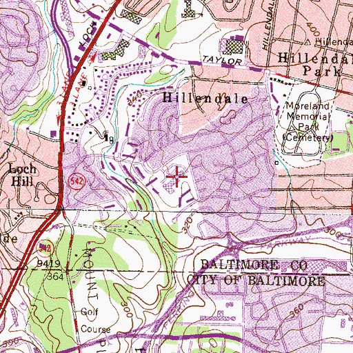Topographic Map of Halstead Academy, MD