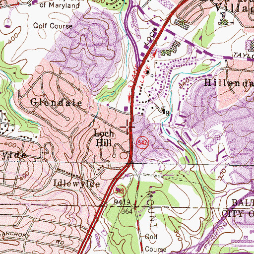 Topographic Map of Loch Raven United Methodist Church, MD