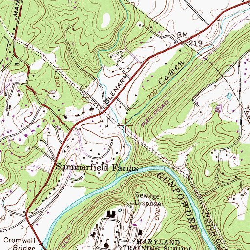 Topographic Map of Pierce Branch, MD