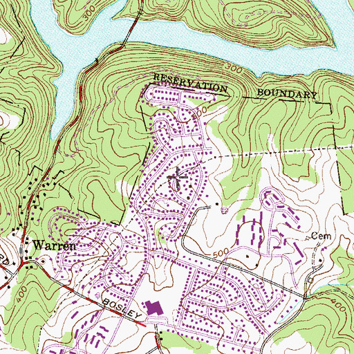 Topographic Map of Springdale, MD