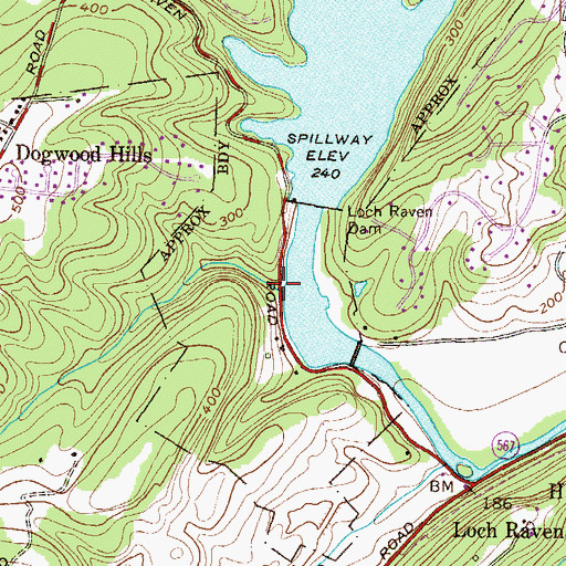 Topographic Map of Towson Run, MD