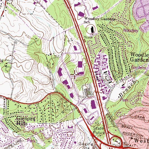 Topographic Map of Washington National Pike Industrial Park, MD
