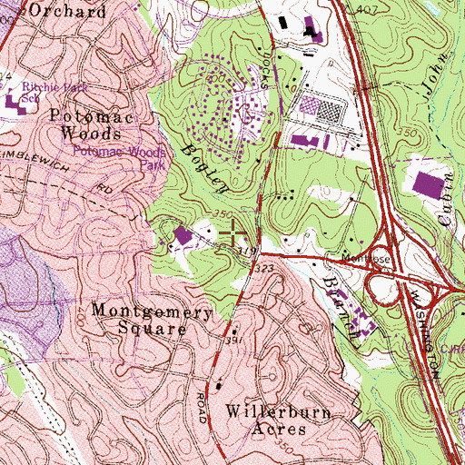 Topographic Map of Maryland State Police Rockville Barrack N, MD