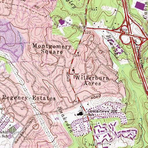 Topographic Map of Beth Sholom Congregational and Talmud Torah Synagogue, MD
