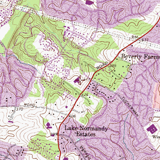 Topographic Map of Washington Hebrew Congreational Julia Bindman Center, MD