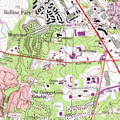 Topographic Map of Bnai Israel Congregational Synagogue, MD