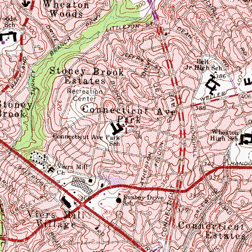 Topographic Map of Connecticut Park Elementary School (historical), MD