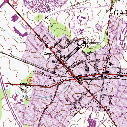 Topographic Map of Gaithersburg, MD