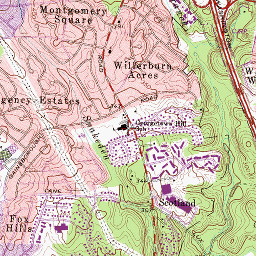 Topographic Map of Georgetown Hill Elementary School (historical), MD