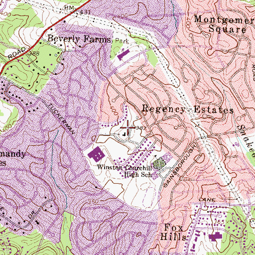 Topographic Map of Saint Andrews Episcopal School, MD
