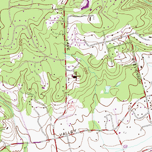 Topographic Map of Baptist Home of Maryland, MD