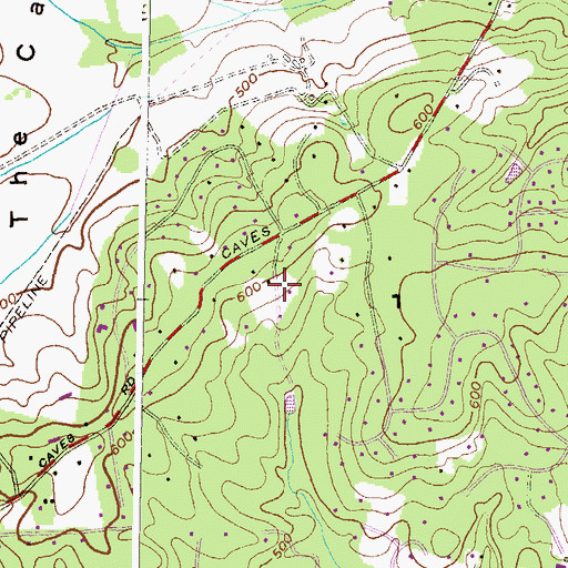 Topographic Map of Baronet Woods, MD