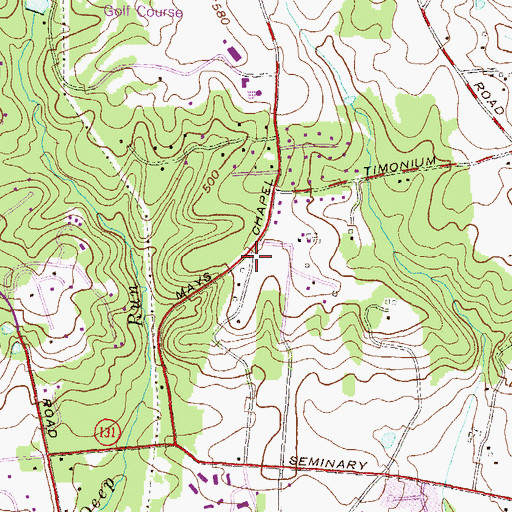 Topographic Map of Deer Run, MD