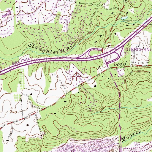 Topographic Map of Eden Roc, MD