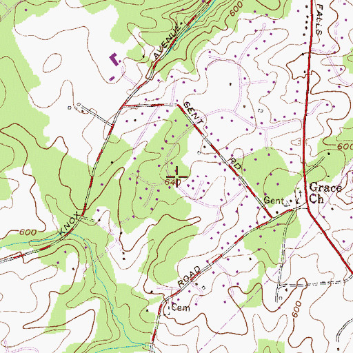 Topographic Map of Hunt Cup Hill, MD