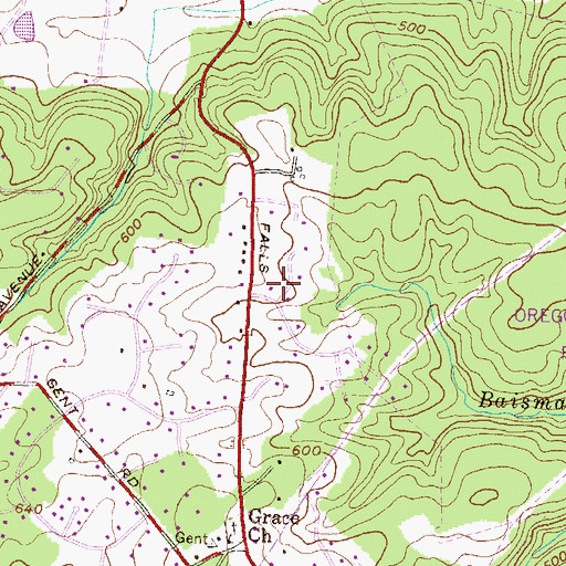 Topographic Map of Jonathans Delight, MD