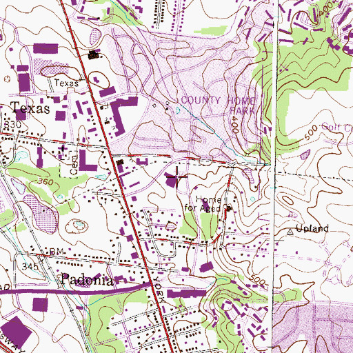 Topographic Map of Padonia International Elementary School, MD