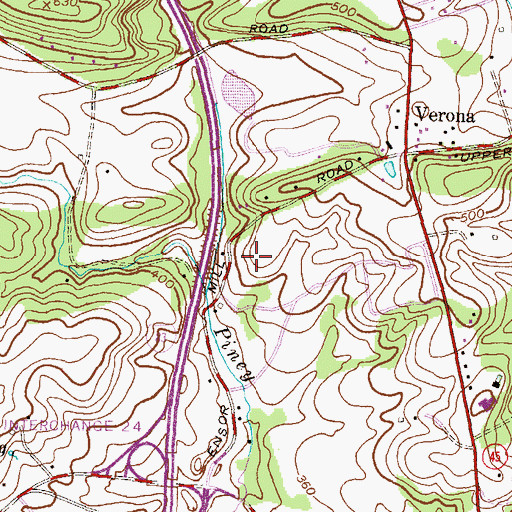 Topographic Map of Retreat Farms, MD