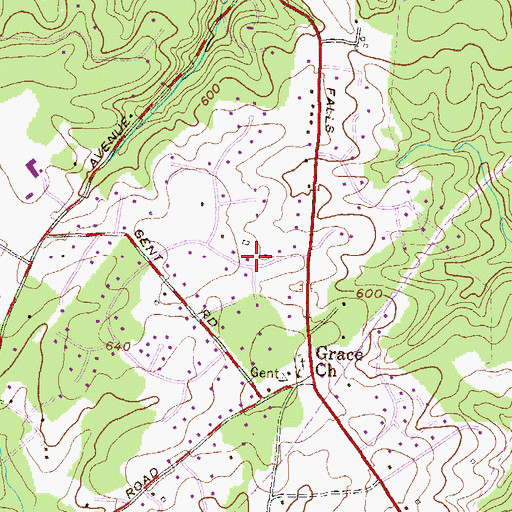 Topographic Map of Shawan Valley, MD