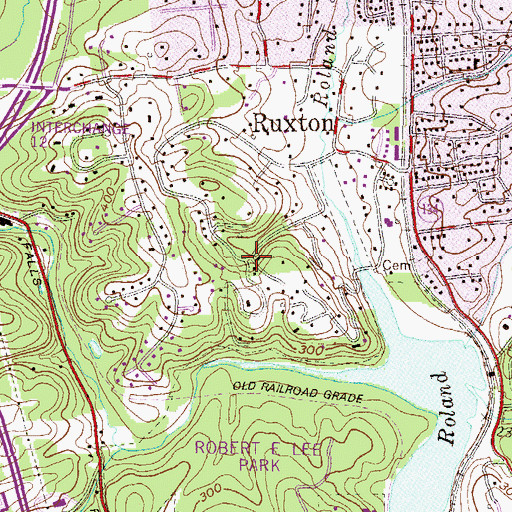 Topographic Map of Sorrento, MD