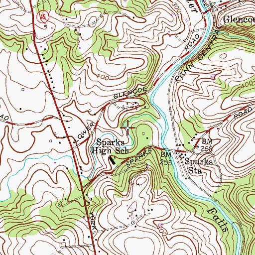 Topographic Map of Sparks Park, MD